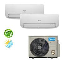 Ar Condicionado Multisplit Bi 18000 BTU(2x9000) Quente Frio - Inverter - SPRINGER MIDEA - 220v - 42MBMA09M5 38MBBA18M5