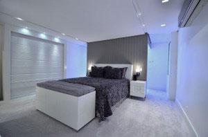 Exemplo de instalação em dormitório