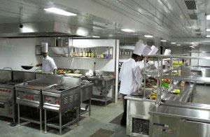 Cozinha em Restaurante