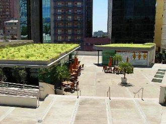 Telhado verde no Theatro São Pedro - Porto Alegre RS