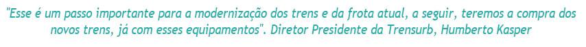 Trens de Porto Alegre terão ar condicionado