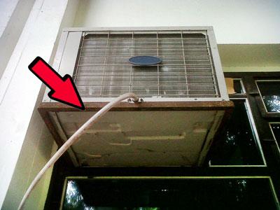 Dreno redirecionado no modelo janela