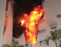 Incêndio causado por pane no ar condicionado