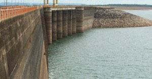 Baixo nível de água nas Hidrelétricas