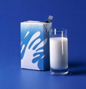 Caixa de leite longa vida