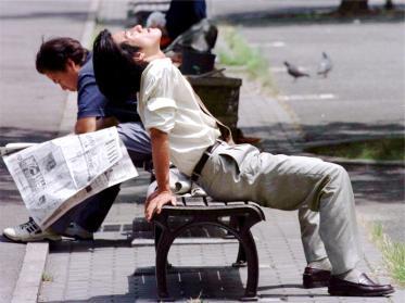 Japoneses sofrem com calores