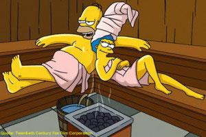 Sauna de pedra Simpsons