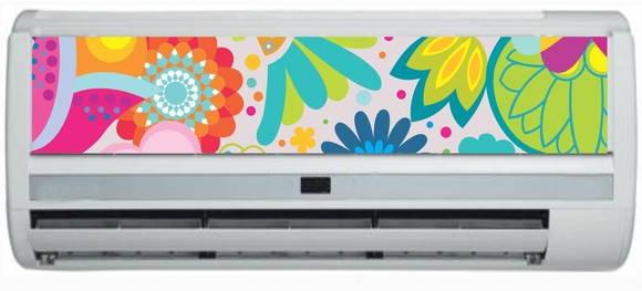 Adesivos decorativos para ar condicionado