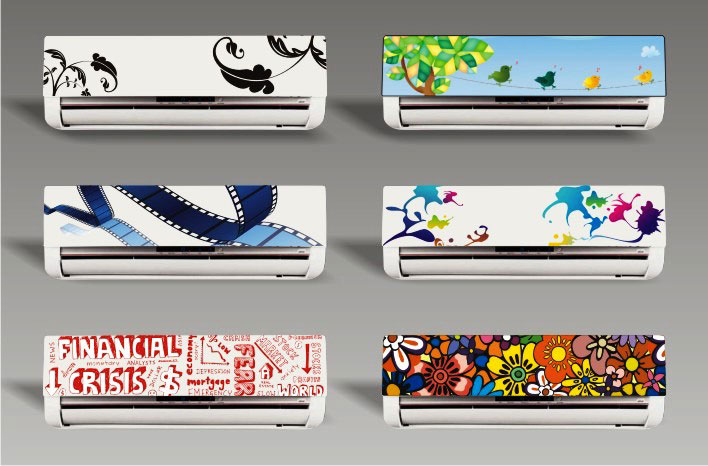 Adesivos decorativos para ar condicionado - créd. Flávia Barros