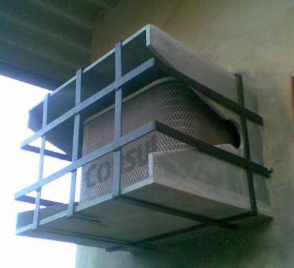 Suporte de concreto para janeleiro