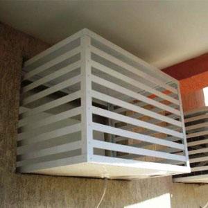 Protetor de metal para ar condiciando janela