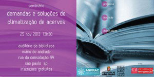 Climatização de Acervos será tema de seminário em São Paulo
