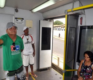 Metrô em Teresina de portas abertas. Foto: Paul Ricarty/Tvcanal13