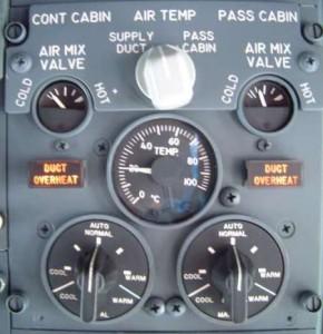 Painel controlador de ar-condicionado