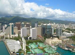 Honolulu, o município mais populoso do estado norte americano do Havaí
