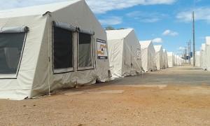 Abrigo temporário dos moradores de Porto Velho-RO. Foto: Jairo Barbosa/Folhapress