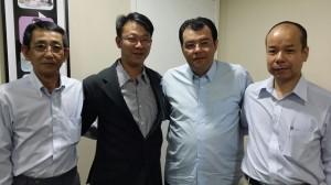 Eduardo Braga durante encontro com diretores da Daikin