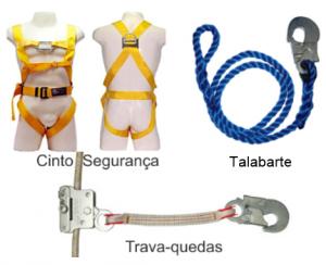 Alguns EPIs usados em trabalho