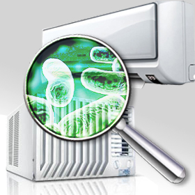 bactérias no ar-condicionado
