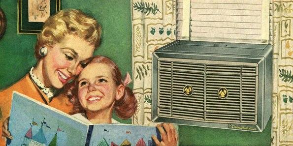 O invento do condicionador de ar trouxe uma grande satisfação para as famílias da época
