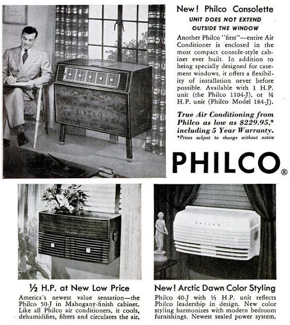 A sequência mostra a evolução dos aparelhos fabricados pela Philco