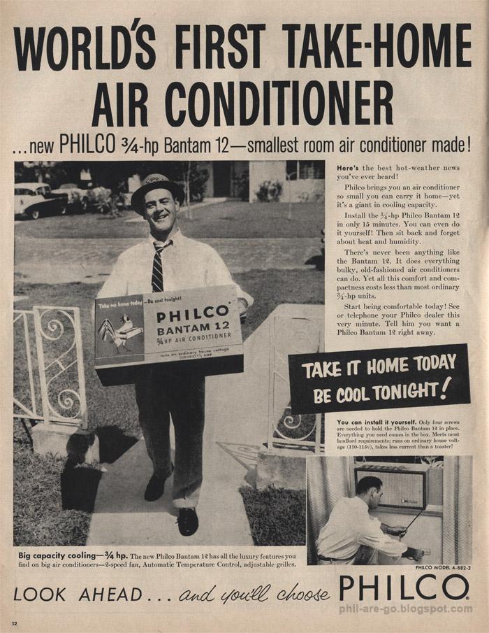 O primeiro modelo em tamanho menor da Philco, o Bantam 12, foi lançado em 1957