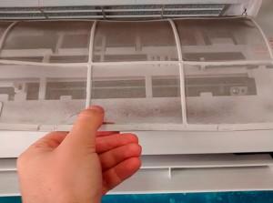 Limpar os filtros do ar-condicionado