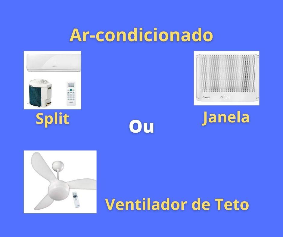 Ar-Condicionado Ventilador de Teto