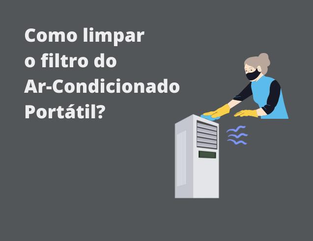 limpar filtro ar-condicionado portátil