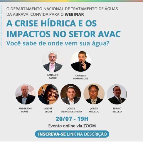 webinar crise hídrica impactos no AVAC