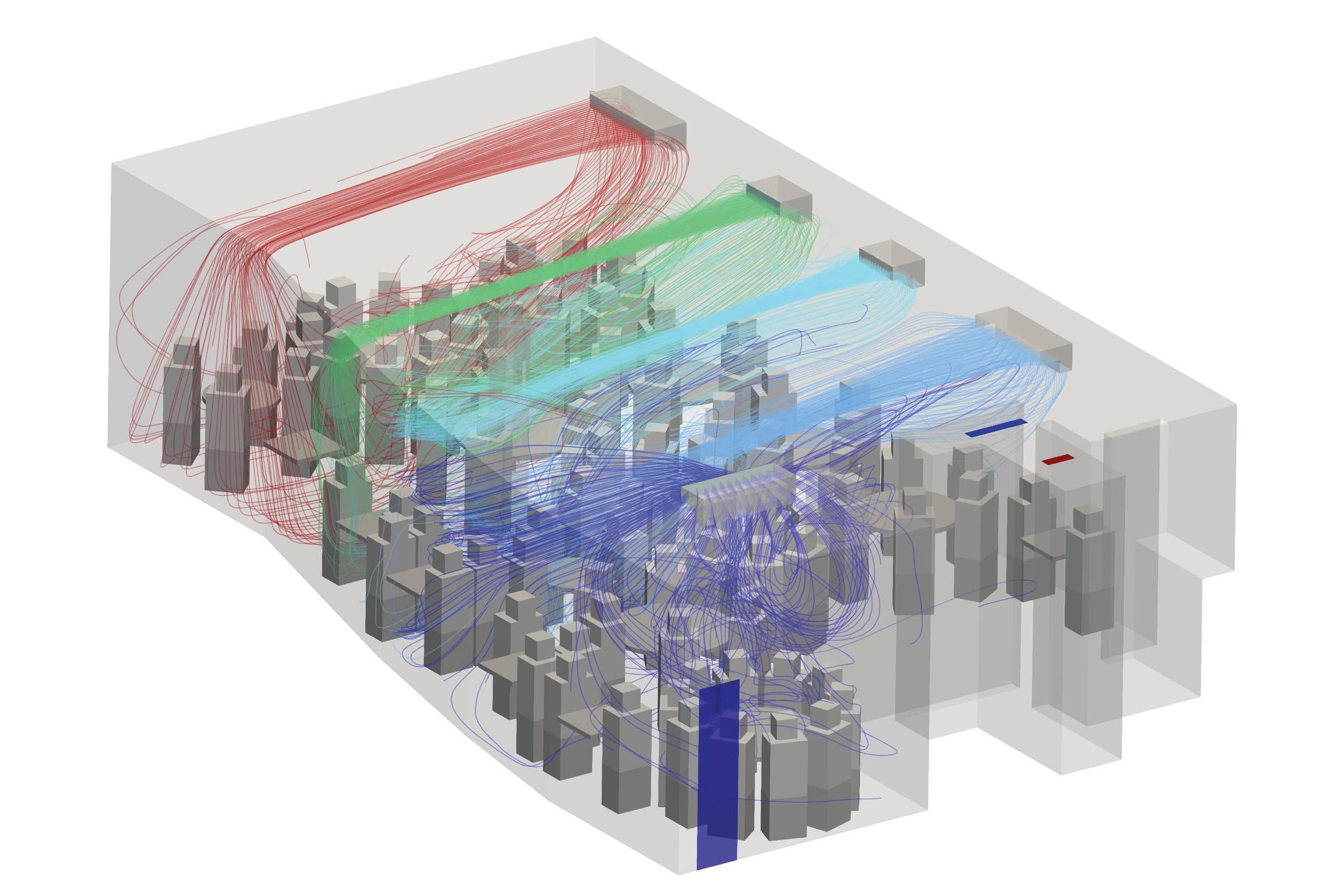 programa simula circulação do ar