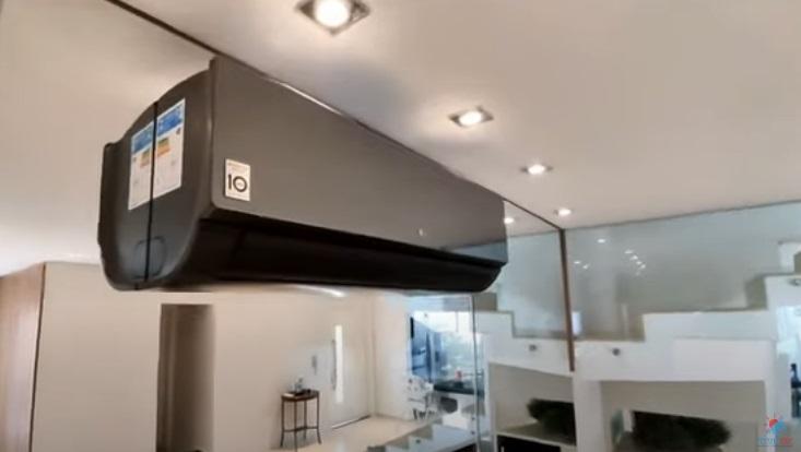instalar ar-condicionado em parede de vidro